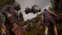 Escaping a Zombie hoard in a run down vehicle