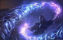 A mage controls the weather with Storm Surge Magic
