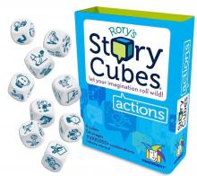 When you're stuck narratively or just need some inspiration, roll these dice decorated with pictures and force yourself to create something that makes sense of the pictures and maybe you'll find an incredible plot line!