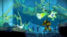 A character fights against some of the monsters in Sundered