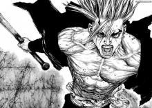 This features Ken, the protagonist of the manga Sun-Ken Rock