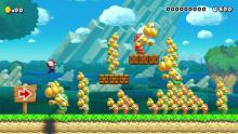 Picture or Mario in an edited level filled with Koopas.  New Super Mario Bros Style.