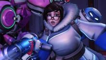Mei looking surprised by something offscreen.