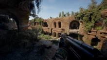 Survarium, ruins, gun fights, stealth survival.