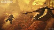Clone LAAT Gunships land on Geonosis