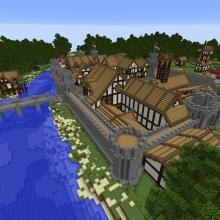 Check out this enclosed town, how awesome!
