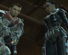 Bounty Hunter and Mako take down a target.