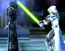 The Jedi Knight stands against the Sith Emperor himself.
