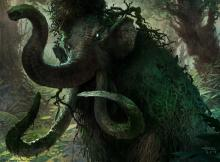 This fight-happy elephant is a thorn on the side of any creature-based deck.