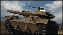 The T49 light tank showing off its good angle to the camera.