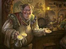 Free ale? No wonder adventurers love this guy.