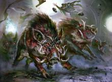 Nothing says Green like summoning wild boars to trample your enemies to death.
