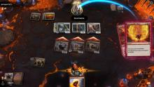 A Scorch Spitter trigger and Inescapable Blaze ended the game before the opponent can even declare blockers.