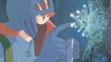 Nausicaa does her best to learn about the world and works to finding a solution on how to preserve life.