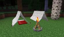 Camping furniture from the Camping mod
