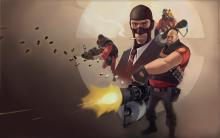collage of TF2 characters
