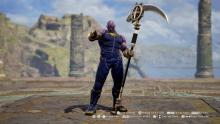 The infamous Marvel villain Thanos in all his Soul Calibur VI glory!