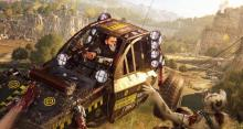 Using a car to kill zombies, running them over