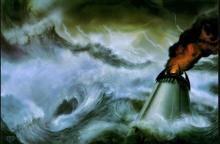 The island of Numenor, a kingdom of men, was lost to the ocean during the Second Age.