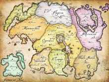 A map of the lands where the series takes place. Which one will host the sixth?...