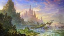 A beautiful fantasy landscape.