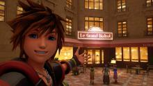 Sora takes a selfie at The Grand Bistro