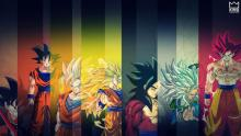 Different forms of goku, all powerful