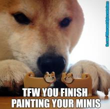 This doggo probably didn't paint minis, but I don't know his life.
