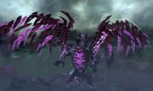 In the eastern expanses of Ascalon, located in Blazeridge Steppes, The Shatterer is a lieutenant of The elder dragon Kralkatorrik.  This is creature was made rather than converted.