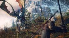 Geralt steeling himself against attacking sirens.