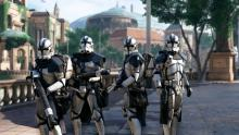 Clone troopers stand guard on Naboo