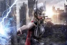Jane Foster summoning lightning!