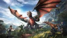 Three Survivors Fighting the Dragon