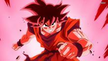 Goku using his Kaioken technique