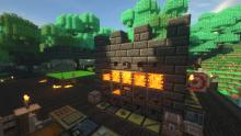 This is an idea of a custom smeltery that can be built with the Tinkers' Construct mod.