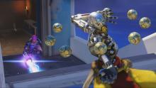 Zenyatta and Zarya heading into battle