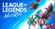 The Logo of League of Legends: Wild Rift, along with Jinx and Ziggs