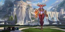 Shyvana, a fighter jungler in Wild Rift who turns into a dragon