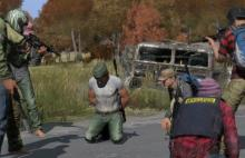 Players taking a hostage and surrounding victim.