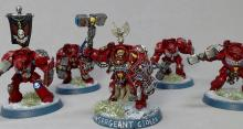 This Blood Angels kill team is beautifully painted and ready for table-top play