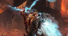 An Imperium Psyker summons his immense powers to strike down his enemies