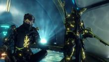 A moment of rest with their warframe.