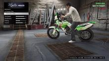 A Nagasaki BF400 in GTA Online undergoing an important modification.