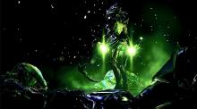 Saryn is the poison Warframe. Her powers involve spreading her disease on the battlefield to help weaken the enemy.