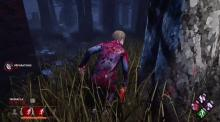Quentin running behind a tree in DbD