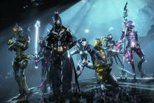 These tenno pose for a group picture after a victory