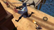 Rocket jump in Team Fortress 2!