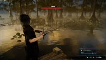 Noctis fishing in a murky swamp