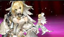 Bride Nero Claudius delivers powerful attacks despite her dress and heels