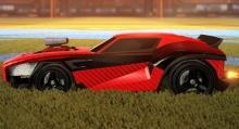 The already oddball Invader wheels painted black, adding a sinister sensation to the car.